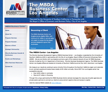 The MBDA Business Center Los Angeles
